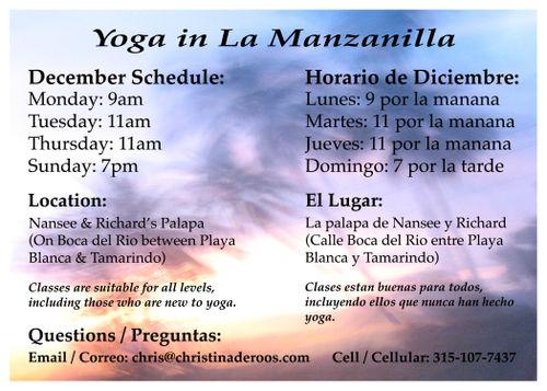 Dec Yoga Flyer